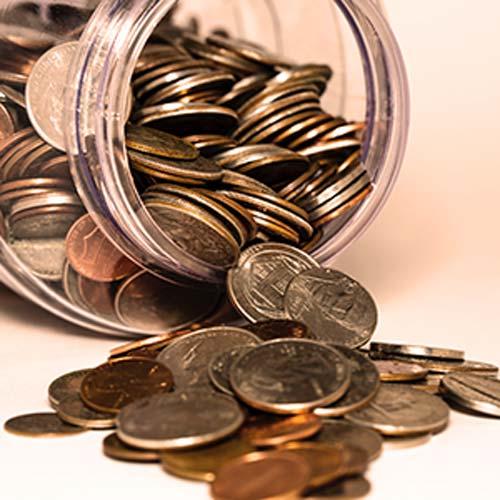 vaso-monete